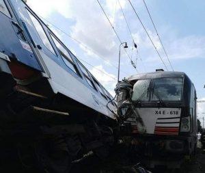 Srážka vlaků v Němčicích nad Hanou.