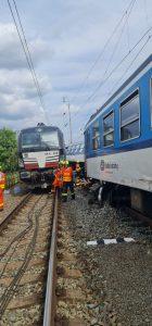 Srážka vlaků v Němčicích nad Hanou. Foto: Správa železnic