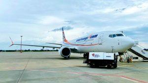 Letadlo OK-SWC po ověřovacím letu. Foto: Smartwings