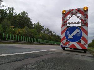 Omezení na silnici. Ilustrační foto: ŘSD