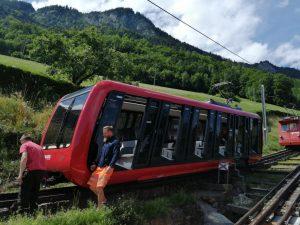 Nové vozidlo pro zubačku na Pilatus. Foto: svycarsko-vlakem.cz