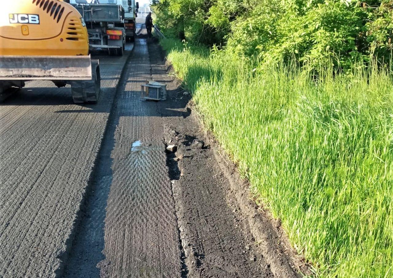 Oprava silnice I/38 u Pňova. Foto: ŘSD