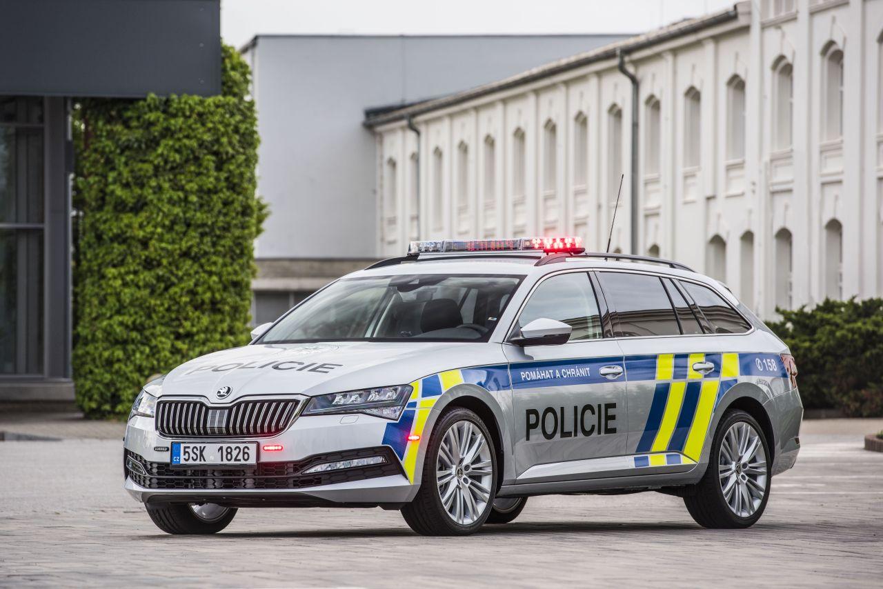Škoda Superb Combi v policejním provedení. Foto: Škoda Auto
