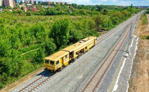Práce na modernizaci tratě Brno - Střelice. Pramen: Skanska
