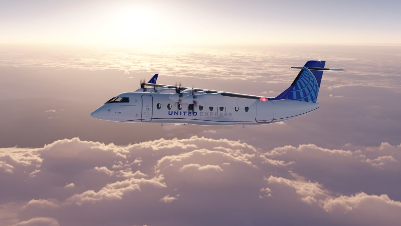 Letoun ES-19 pro United Airlines. Foto: UA