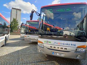 Autobusy Setra pro Jihomoravský kraj. Pramen: Icom
