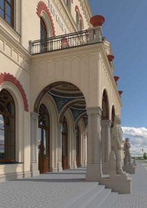 Nádražní budova Teplice po rekonstrukci, vizualizace. Pramen: Správa železnic