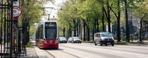 Tramvaj ve Vídni. Pramen: © Wiener Linien-Helmer Manfred