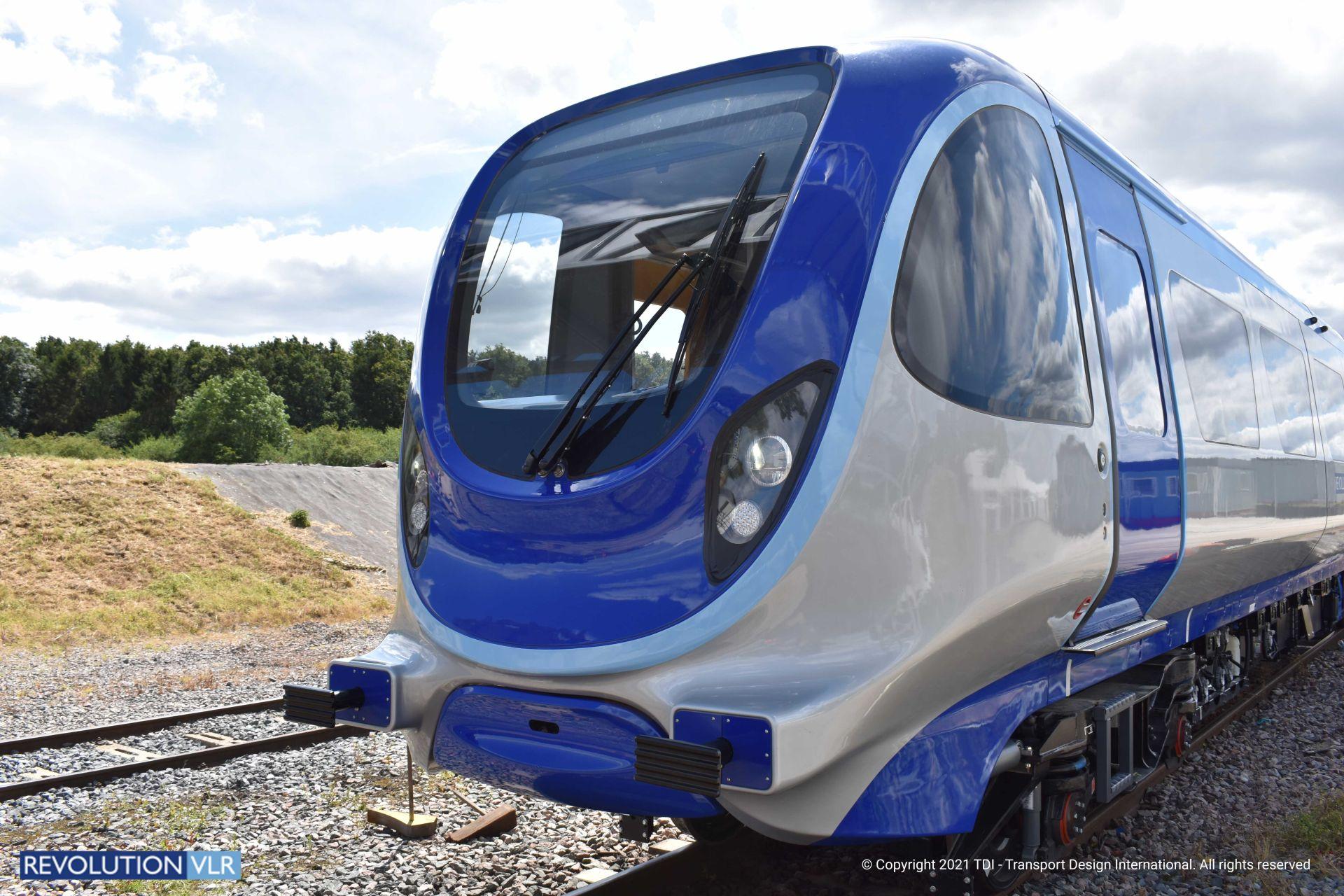 Lehký motorový vůz Revolution VLR Demonstrator. Pramen: Transport Design International
