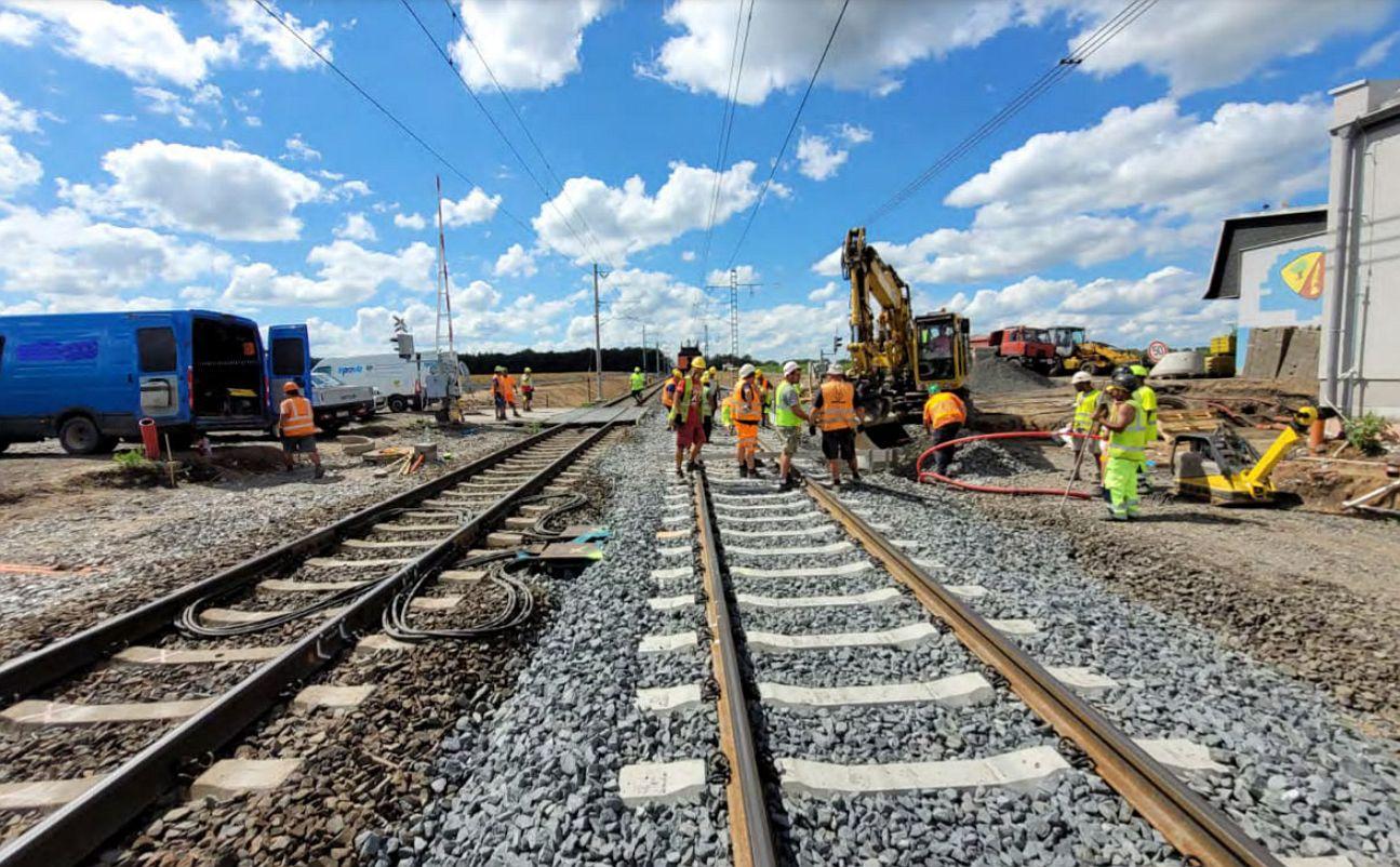 Rekonstrukce koridoru Velim - Poříčany. Pramen: Správa železnic