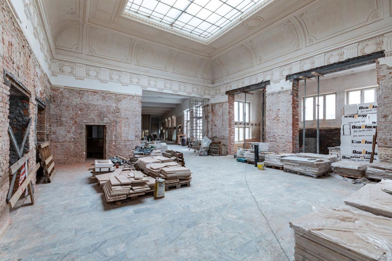 Oprava interiérů brněnského hlavního nádraží pro gastroprovoz. Foto: BNSD