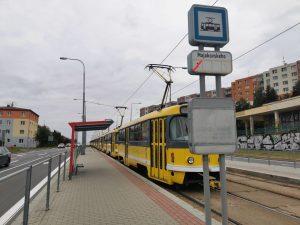 Tramvaje na Plaské ulici. Foto: PMDP