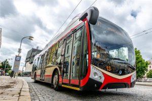 Trolejbus Škoda 32 Tr v Jihlavě. Foto: Jihlava.cz