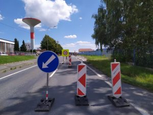 Silnice I/22 v Horažďovicích. Pramen: ŘSD