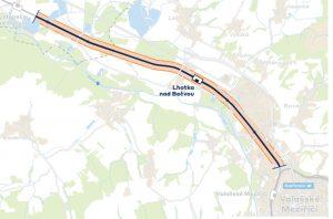Mapa opraveného úseku Hustopeče nad Bečvou - Valašské Meziříčí. Foto: Správa železnic