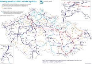 Plán implementace ETCS na české železniční síti, verze ke 4.8. 2021