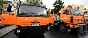 Silničářská vozidla Tatra a Liaz pro Koločavu. Pramen: Jihočeský kraj