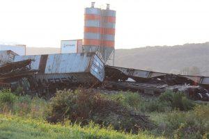 Nehoda nákladních vlaků u města Križevci. Foto: Krizevci.info