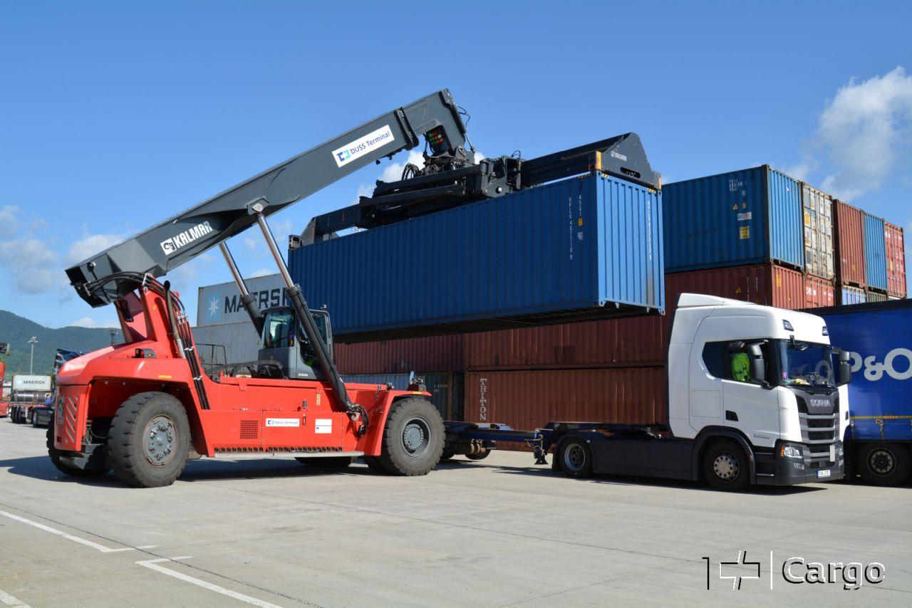 Kontejnery v Lovosicích. Foto: ČD Cargo