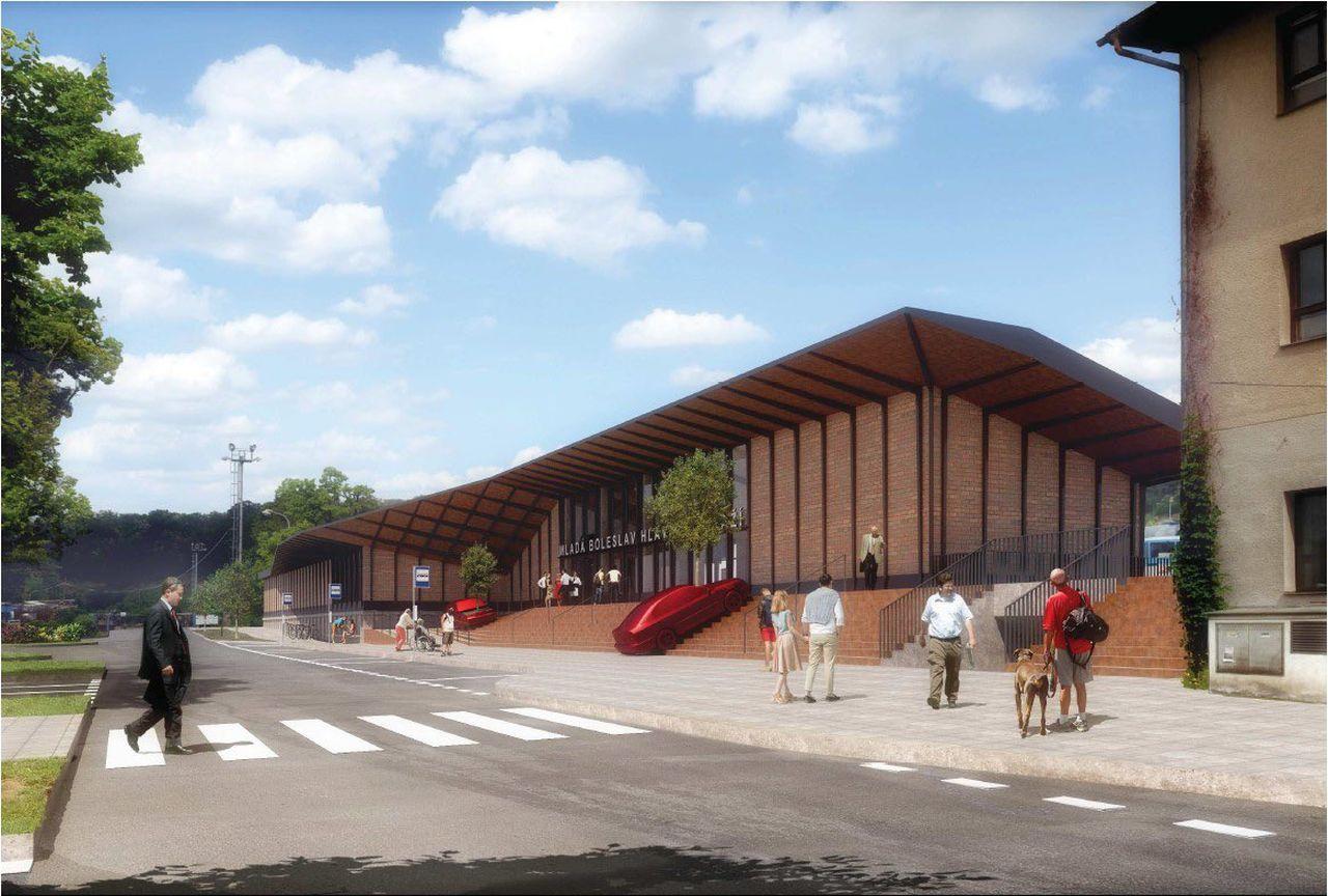 Vizualizace nové výpravní budovy v Mladé Boleslavi. Foto: Twitter Jiřího Svobody