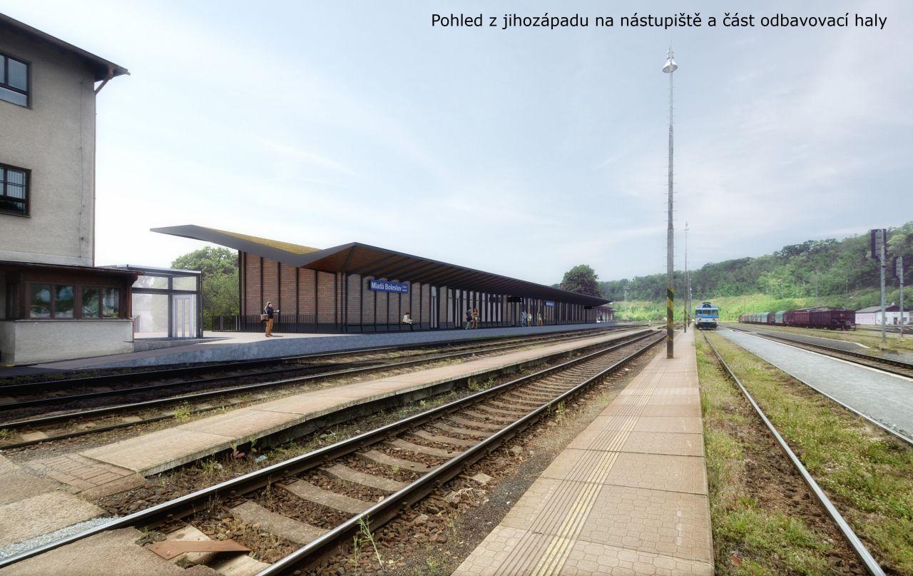 Vizualizace nové podoby stanice Mladá Boleslav hl. n. Foto: AFRY CZ