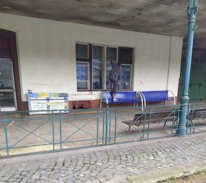 Stanice Mladá Boleslav hl. n. po návštěvě mobilní čety Správy železnic.