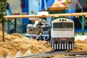 Model vojenské vlečky s lokomotivou Brejlovec. Pramen: ČD