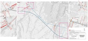 Mapa omezení a objížďky na silnici I/68 v Neborech