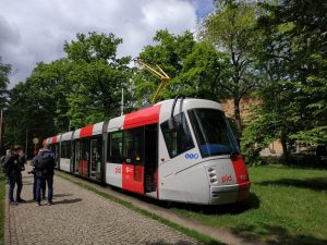 Tramvajová zastávka Výstaviště, dříve Výstaviště Holešovice. Foto: PID