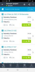 Spojení a cena jízdenky Rožmitál - Praha vlakem v eshopu ČD