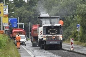 Oprava silnice I/35 ve Valašském Meziříčí. Foto: ŘSD