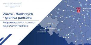 Trasa nové trati do Česka na polském území. Foto: CPK