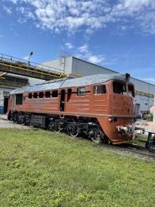 Lokomotiva 781.592 Sergej společnosti Kladenská dopravní a strojní. Foto: KDS