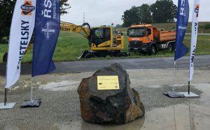 Zahájení stavby přeložky silnice I/34 Stráž nad Nežárkou - Lásenice. Pramen: ŘSD