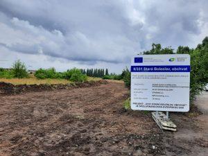 Stavba obchvatu Staré Boleslavi. Foto: Krajská správa silnic Středočeského kraje