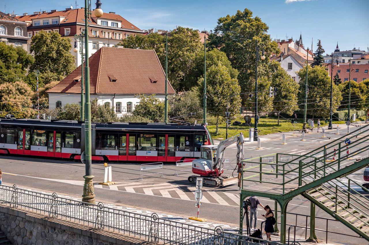 Oprava tramvajové trati na Výtoni. Foto: PID
