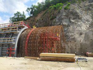 Stavba tramvajového tunelu na Žabovřeské. Pramen: ŘSD