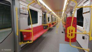 Interiér metra Varsovia. Foto: Metro Warszawskie
