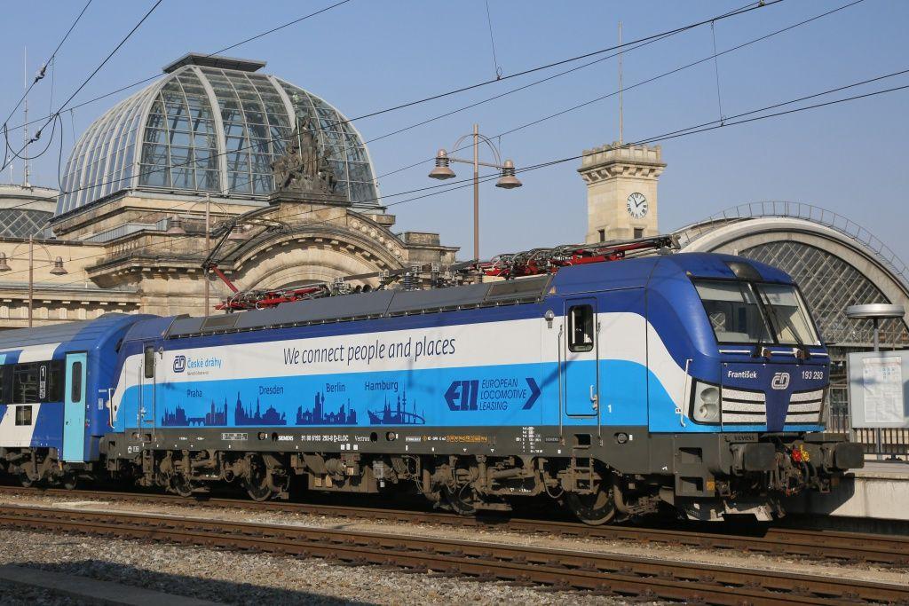 Siemens Vectron v barvách Českých drah. Pramen: ČD