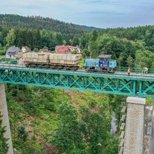 Opravený most ve Vilémově. Foto: Správa železnic