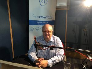 Zdeněk Šponar při natáčení podcastu. Foto: Ondřej Kubala