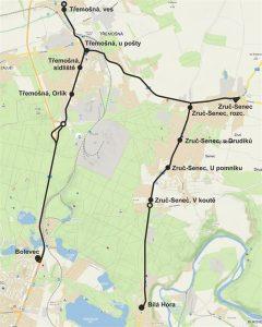 Mapa nové linky 58. Foto: PMDP