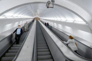 Vyměněné eskalátory ve stanici Anděl