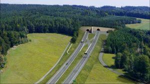 Vizualizace tunelu Maletín na D35 mezi Starým Městem a Mohelnicí. Foto: ŘSD