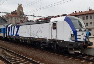 Lokomotiva 193.902 Siemens Vectron vbarvách VUZ. Pramen: České dráhy