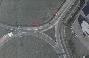 Místo vzniku nového bypassu mezi Okružní ulicí a lišovskou výpadovkou. Pramen: ŘSD