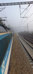 Stání vlaku pod stahovačkou. Autor: Antonín Sehnal