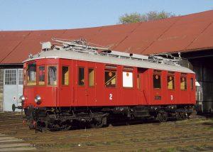 Vůz M 400.001 zroku 1903 přezdívaný Elinka. Pramen: NTM