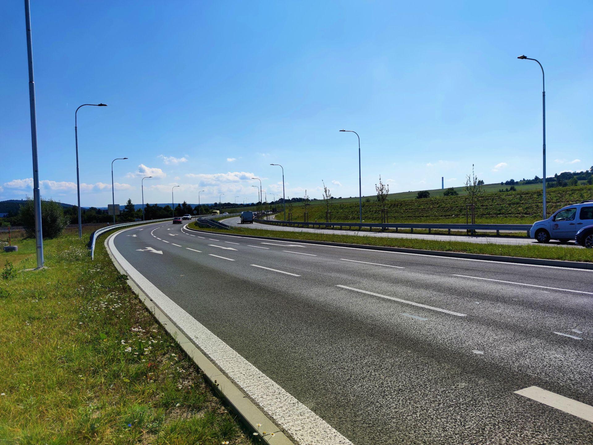 Nový úsek silnice I/20 v Plzni. Pramen: MDČR