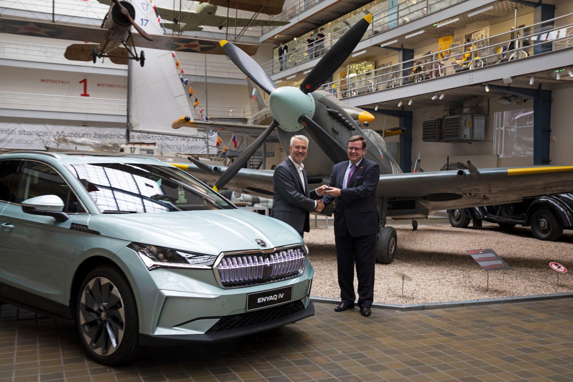 Elektromobil Škoda Enyaq iV jako muzejní exponát. Pramen: NTM